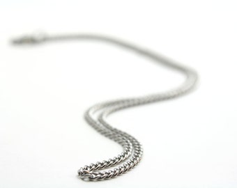 """21"""" Stainless Steel Curb Chain With Lobster Claw Clasp"""