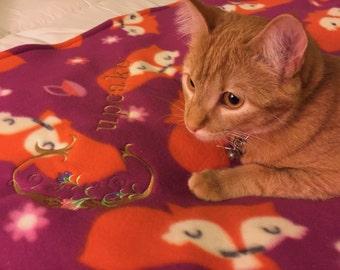Handmade Personalizes Cat blanket, Cat blanket.