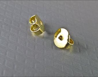50 x  Gold Plated Earring Earnuts Post Back - OSTO6