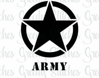 ARMY/Star svg, dxf, fcm, eps, and png.