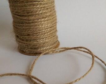 HEMP ROPE Jute String Decorative Craft Cord 10 Meters, Natural Brown