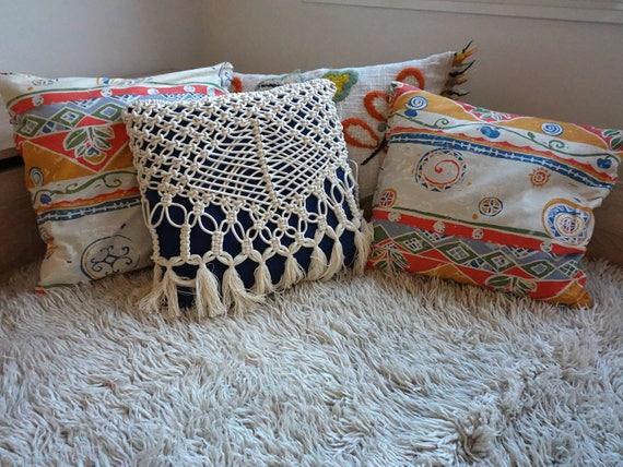 Macrame Pillow Cover for Boho Home Decor, Wedding Decor, Decorative Pillow Cover, Cushion Cover, Housewarming Gift for Her