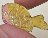 Bio Tourmaline fish carvi...