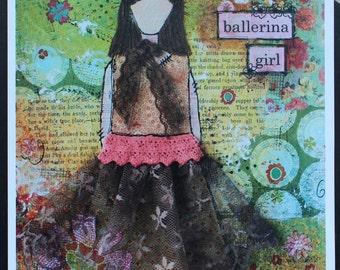 Art Print of Mixed Media Original artwork titled Ballerina Girl