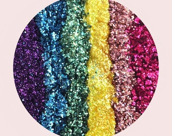 Rainbow pressed glitter eyeshadow huge pan, 57mm magnetic pan with optional compact