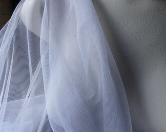 2 Yds OFF WHITE Soft Tulle English Net for Bridal, Veils,  Lyrical Dance, Skirts, Gowns