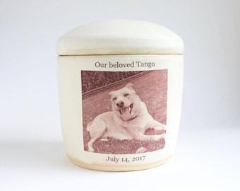 Medium Photo Pet Urn - photo urn,  pet urn, cremation, picture urn, dog urn, custom urn