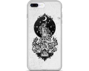 Burning Church IPhone Case - Occult Gothic Punk Kawaii Hipster Indie Satanic