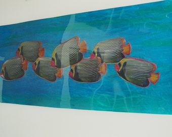 Wall Art Sculpture DOWN STREAM, Wall Sculpture, Art, Wall Art, Fine Art, Ocean, Nature