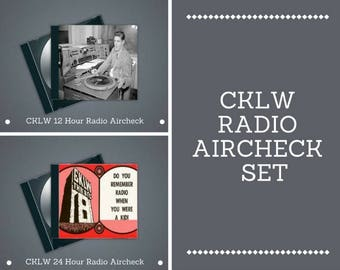 CKLW Radio Station Aircheck Set – Two MP3 Discs 12 & 24 Hour Airchecks from 1973