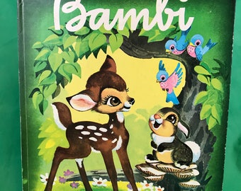 Vintage 1979 Walt Disney BAMBI A Golden Book 31st Print Collectible
