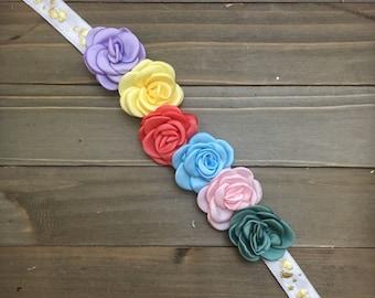 Maternity Sash, Rainbow Baby, Baby Reveal Sash, Gender Reveal, Gender neutral Maternity Sash, Baby Shower Sash, Rainbow Maternity Belt