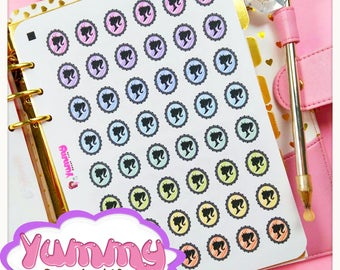 2 Sheets Cameo Stickers