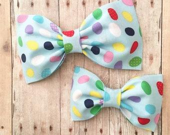 easter jellybean  hair bow hair bows baby headband summer preppy rockabilly