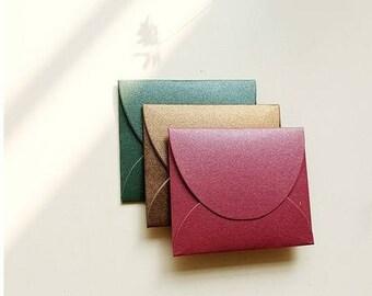 beautiful 5 mini envelopes Pearl paper mix color 6 * 9cm