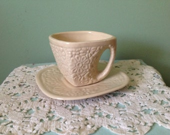 Niloak Square Cup and Saucer