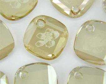 Crystal Golden Shadow Swarovski 6059 25mm Metro Pendants Swarovski Elements - swarovski flower