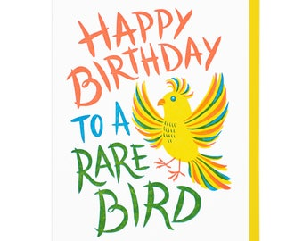 Rare Bire Birthday Letterpress Card