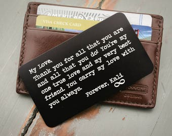 Wallet card father of the bride gift for him metal wallet