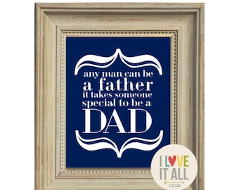Father Valentine Love Art Print . Father's Day Gift for Daddy To Be a Dad Daddy Subway Art Poster Print Gifts for Father Birthday Pregnancy