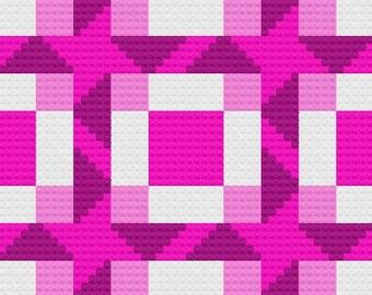 Malca Small Afghan C2C Crochet Pattern, Written Row by Row Counts, C2C Graphs, Corner to Corner Crochet Pattern, Graphgan, Quilt C2C Graph