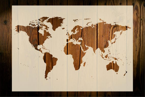 World map stencil art crafts wall decor wood signs painting world map stencil art crafts wall decor wood signs painting decor gifts furniture fabric diy 190 micron mylar reusable quick dispatch gumiabroncs Images