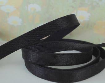 3yds Black Elastic Band Satin 3/8 inch wide Shiny Stretchy Bra Strap lingerie underwear elastic 8.5mm