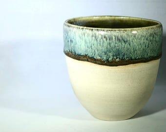 Hazy Blue Porcelain Tumbler