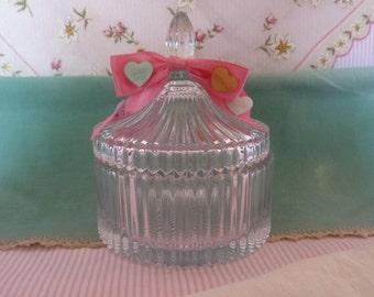 Valentine Candy Dish, conversation hearts, home decor ,valentine decor