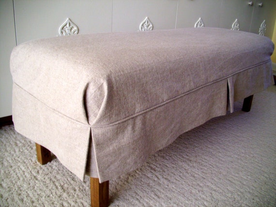 Bench Slipcover With Tailored Skirt Bedroom Cover Dining