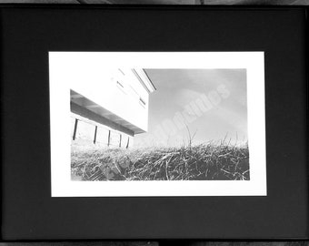 Framed 5x7 Revolutionary War Fort Black and White Photography