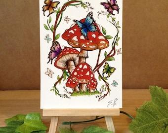 Fairy Toadstool - Mini Fine Art Print