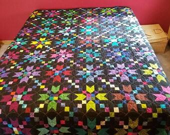 Starry Night Queen Bed Quilt