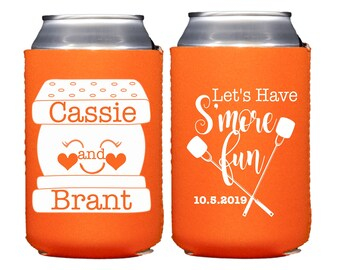 Fall Wedding, S'more's Can Coolers, S'more Wedding Favors, S'mores Wedding Bar, Lets' Have S'more Fun, S'mores Favors, S'more Love, Camping