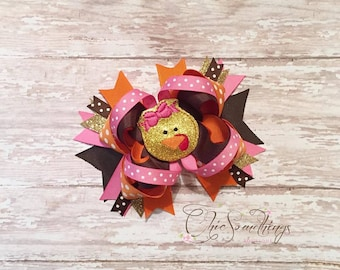 Turkey headband, turkey bow, thanksgiving headband, thanksgiving bow, baby turkey headband, turkey hair bow, turkey headband bow, baby first