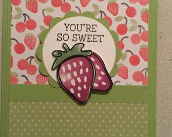 You're so sweet strawberry card