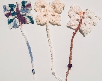 Crochet Butterfly Bookmark
