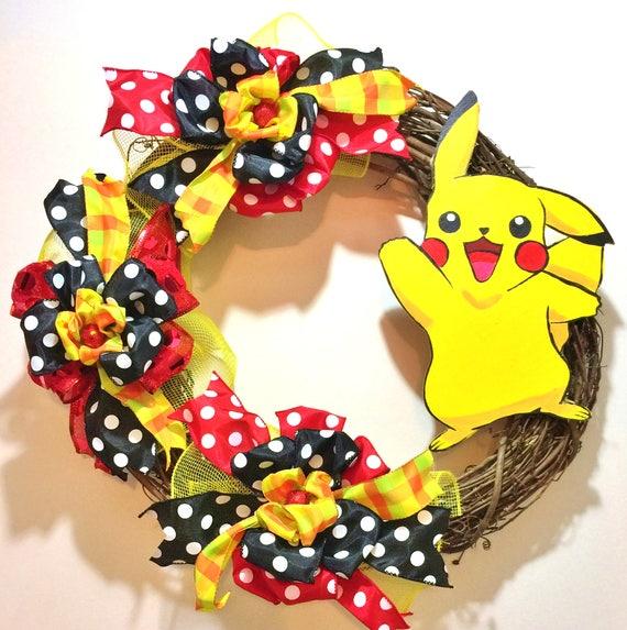 Pokemon Pikachu - Welcome Grapevine Door Wreath
