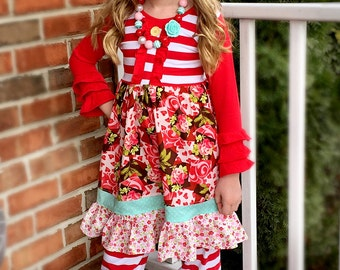 SALE Valentine flower dress SALE Momi boutique custom dress