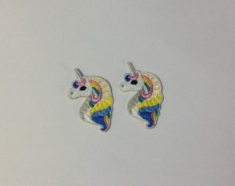 Set 2 pcs Unicorn Patch Iron on Patch Embroidered Applique
