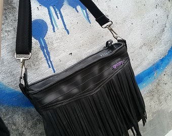 Ladies Handbag - Recycled Bag - Eco Friendly Everyday Purse - Bike Inner Tubes - Vegan Purse