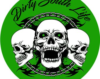 Dirty South Life Sticker