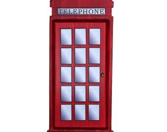 British Phonebooth Fairy Door for Home and Garden