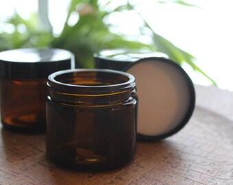 Amber Glass Apothecary Jar - 2 oz