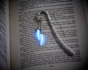 Dragon Bookmark Glow in the Dark Dragon Claws Dragon Tooth Fangs Bookmark Glowing Fang Bookmark Gift Dragon Lover Fantasy Mythology Luminous