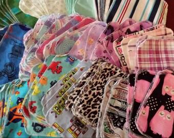Cotton flannel wipes bundle
