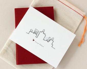 Love from Brooklyn: Skyline Notecard Set