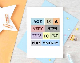 Funny Birthday Card For Friend   Happy Birthday Friend   Cousin Birthday Card   Friend Birthday Card   Aging Is Hard   Blank   SE0061A6
