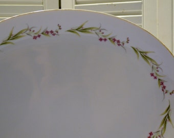 Vintage Prestige Fine China Oval Platter White Pink Japan Replacement Panchosporch