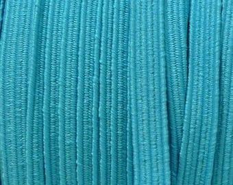 Ribbon 6 mm aqua blue elastic